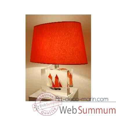 moyenne lampe harenguier rouge abat jour ovale rouge 124 1 de winplex. Black Bedroom Furniture Sets. Home Design Ideas