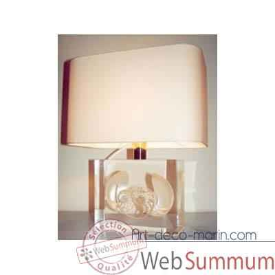 Moyenne Lampe Rectangle Nautile Nacre Abat-jour Rectangle Beige-126-2