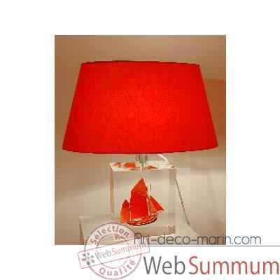 petite lampe thonier can 23 noir rouge abat jour ovale rouge 98 1 sur art d co marin mini. Black Bedroom Furniture Sets. Home Design Ideas