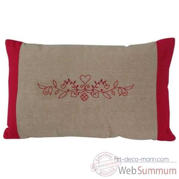 "Coussin 30 x 50 cms ""collection cristina\"" couleur chanvre Antic Line -SEB13947"