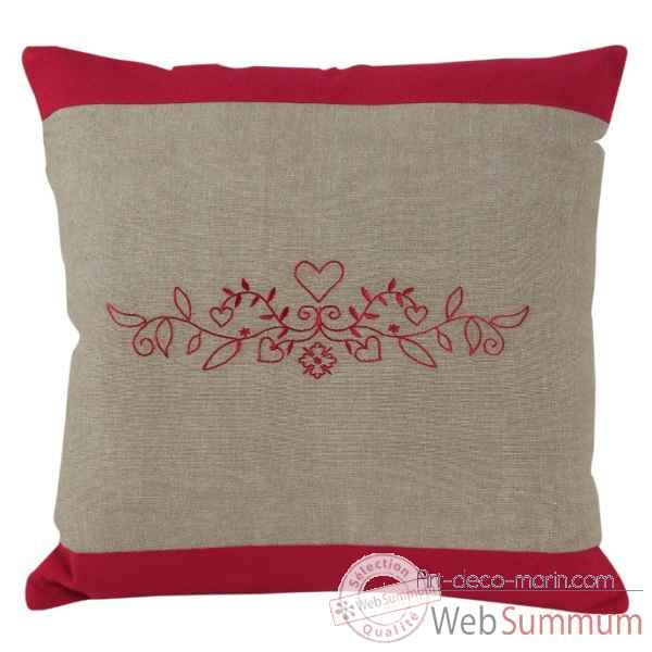 "Coussin 40 x 40 cms ""collection cristina\"" couleur chanvre Antic Line -SEB13946"