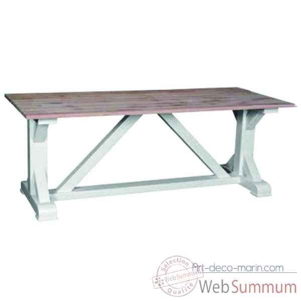 Table de ferme pieds en x Antic Line -CD541
