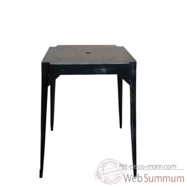 "Table haute en fer ""multiple\'s\"" noire hauteur 110 cms Antic Line -CD577"