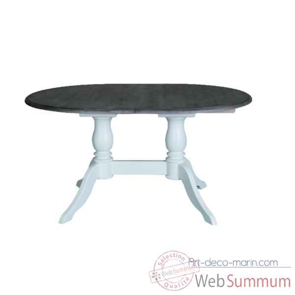 Table ovale 2 pieds Antic Line -CD539