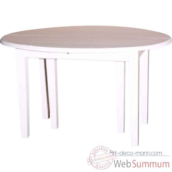 Table ovale 6 portes + 4 allonges de 40cms Antic Line -CD443