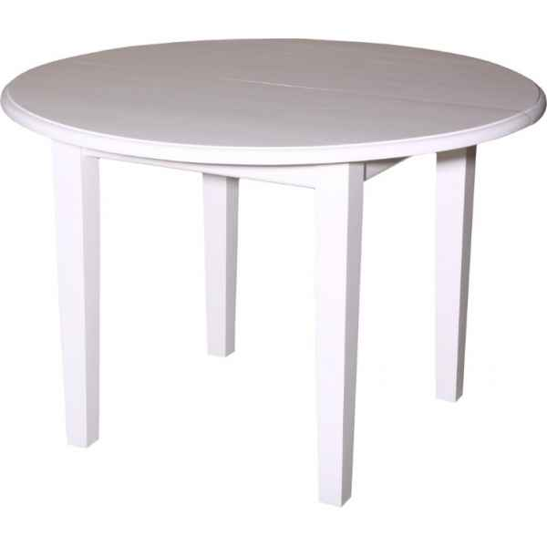 Table ronde 4 pieds 2 allonges de 40 cms antic line for Table ronde allonges