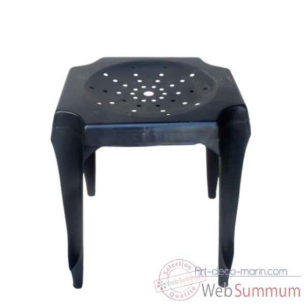 Tabouret de cuisine noir antique Antic Line -CD513