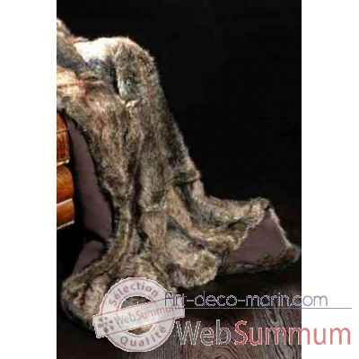 Couverture otter en fourrure synthetique couleur loutre 2500 x 2400 arteinmotion COP-OTT0001