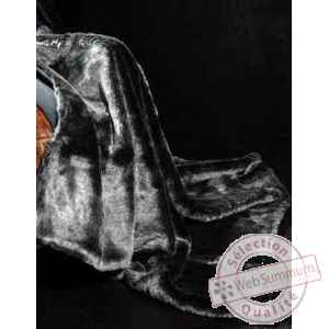 Couverture silver bear en fourrure synthetique couleur ours argente 2500 x 2400 arteinmotion COP-BEA0003
