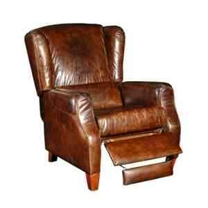 Fauteuil inclinable james en cuir couleur cigare h 1070 x 830 x 920 Arteinmotion POL-JAM0010