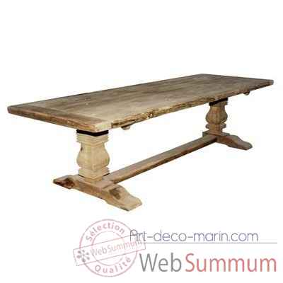 Table en bois recycle arteinmotion -tav-leg0046