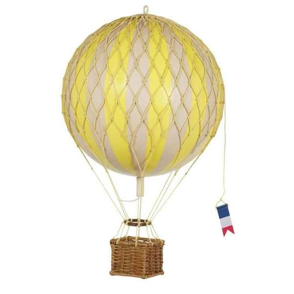 Video Replique Montgolfiere Ballon Jaune 18 cm -amfap161y
