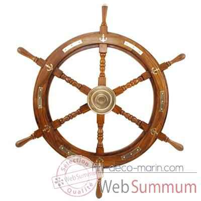 Video Barre a roue decor laiton  Produits marins Web Summum -web0111