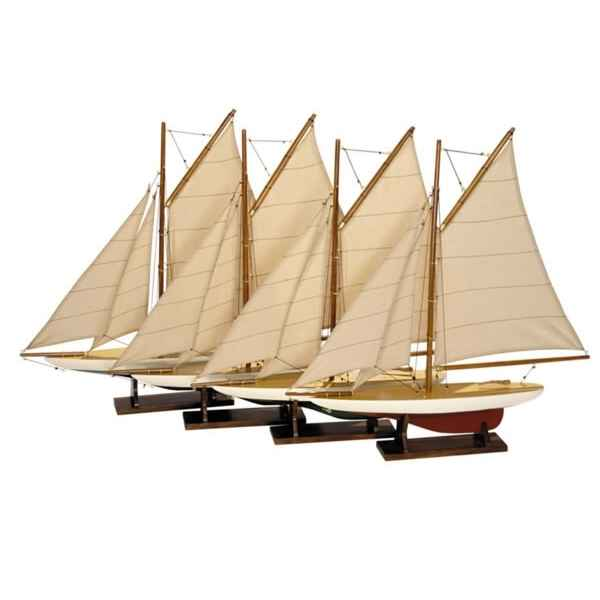 Video Replique Bateau Set 4 Mini Pond Yachts -amfas057a