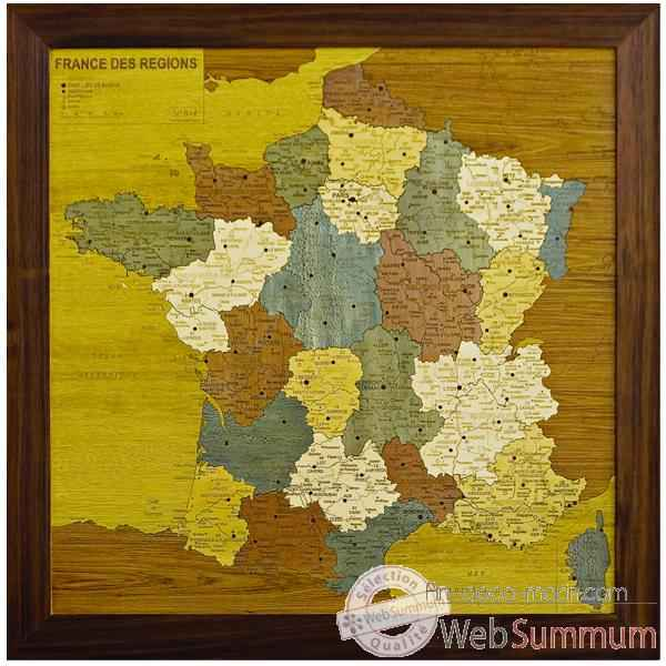 Carte de France des regions Creartion -France