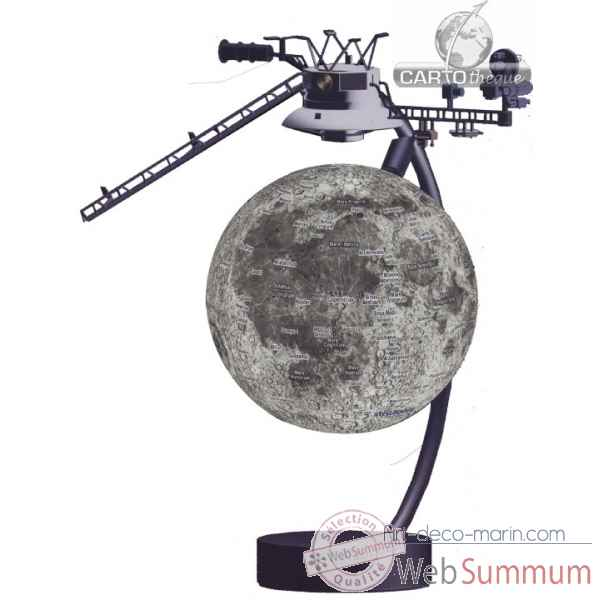 Globe 15 cm magnetique flottant moon Cartotheque EGG -SLMF15MOON
