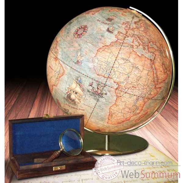 Globe 40 cm world antique columbus -CO254071