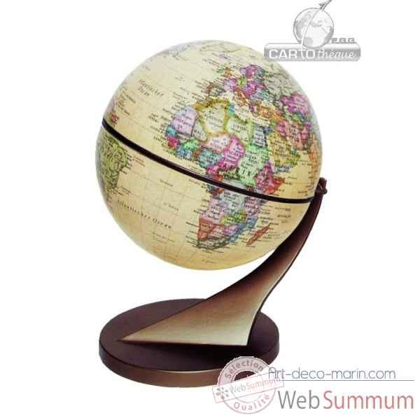 mini globe 11 cm antique axe incline cartoth que egg dans. Black Bedroom Furniture Sets. Home Design Ideas