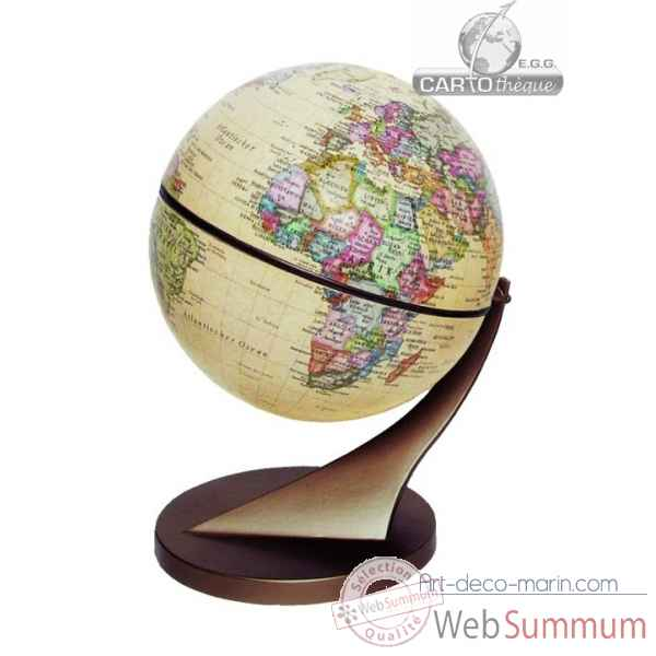 Mini globe 15 cm antique axe incline Cartotheque EGG -SLCL15ANTI