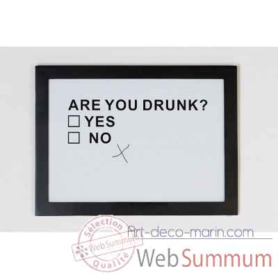 "Cadre photo ""drunk"" Casablanca Design -71493"