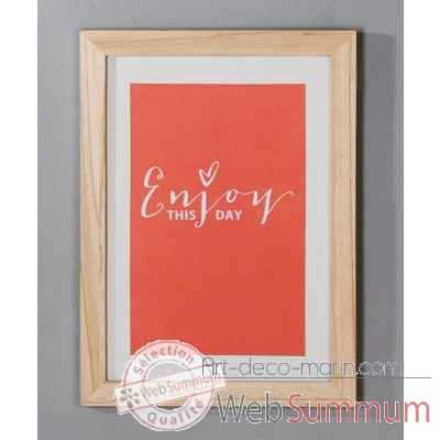 "Cadre photo ""enjoy"" Casablanca Design -71492"