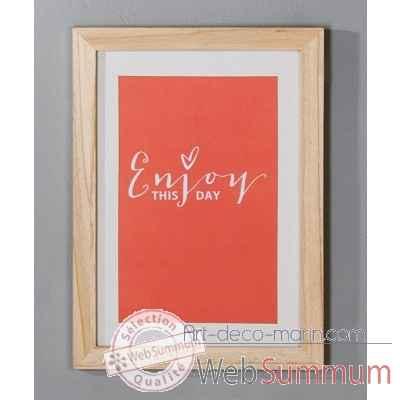 Cadre photo enjoy casablanca design dans cadre de ambiance cosy sur art d co marin - Style cadre photo ambiance ...
