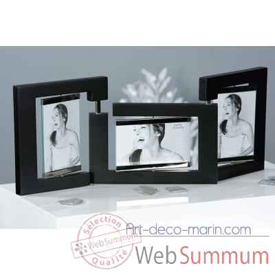 "Cadre photo ""triple"" Casablanca Design -41820"