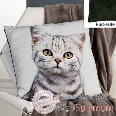 "Coussin ""chat"" Casablanca Design -28539"