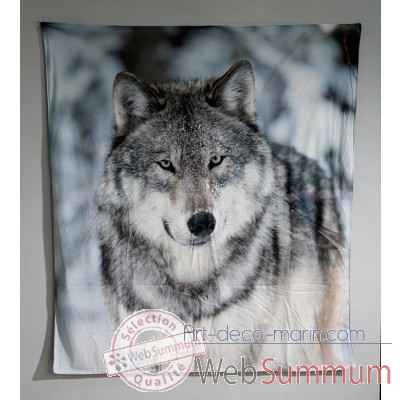 "Couverture ""loup\"" Casablanca Design -28625"