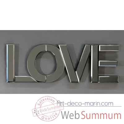 "Inscription / miroir ""love"" Casablanca Design -87339"