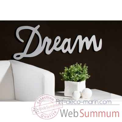 "Mot ecrit ""dream"" Casablanca Design -51531"