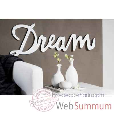 "Mot ecrit ""dream"" Casablanca Design -51536"