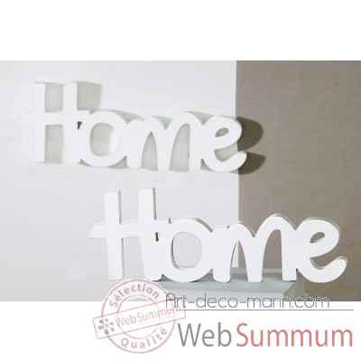 "Mot ecrit ""home"" Casablanca Design -71391"