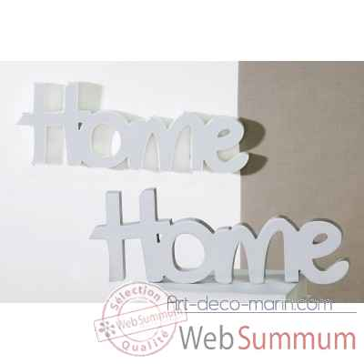 "Mot ecrit ""home"" Casablanca Design -71392"