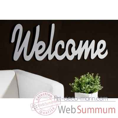 "Mot ecrit ""welcome"" Casablanca Design -51533"