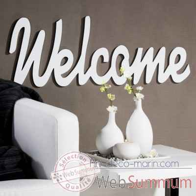 "Mot ecrit ""welcome"" Casablanca Design -51538"