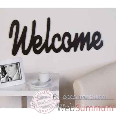 "Mot ecrit ""welcome"" Casablanca Design -51543"