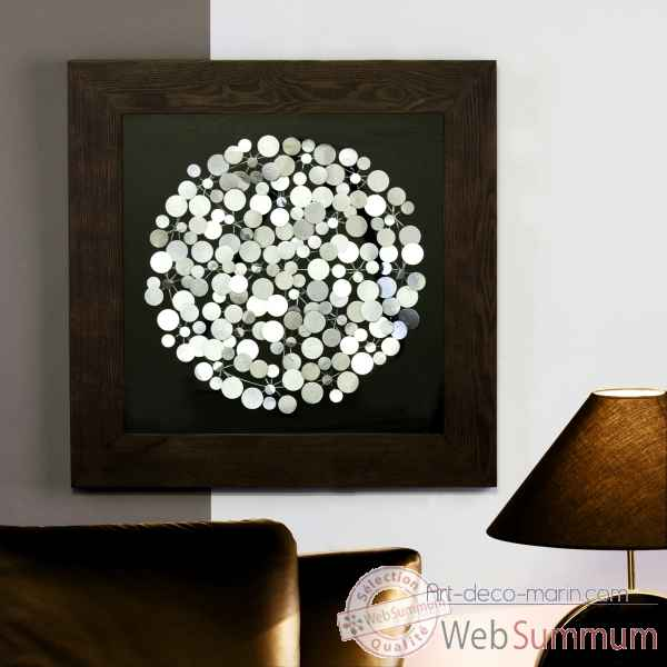 Peinture murale dots bois verre m tal casablanca design for Deco murale design metal