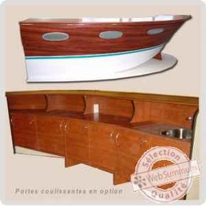 Comptoir 4m dolce vita deckline dld27 dans bar comptoir - Mobilier style marin ...