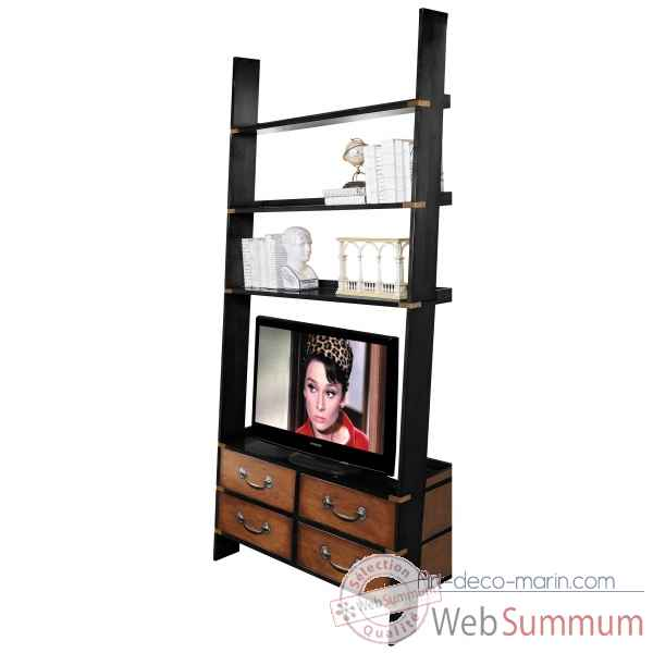 Bibliotheque echelle tv Decoration Marine AMF -MF091