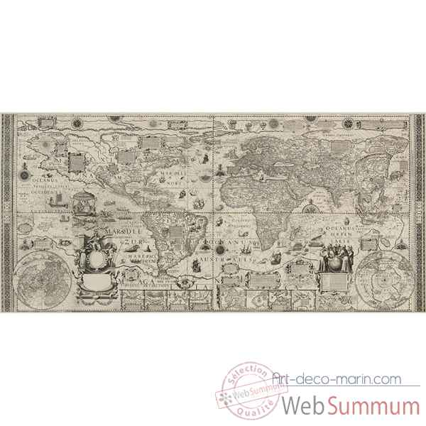 Carte murale monde antique Decoration Marine AMF -AC328