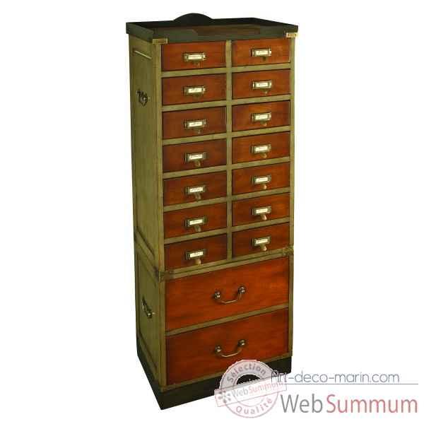 semainier double tiroirs dans mobilier marin de d coration marine sur art d co marin. Black Bedroom Furniture Sets. Home Design Ideas
