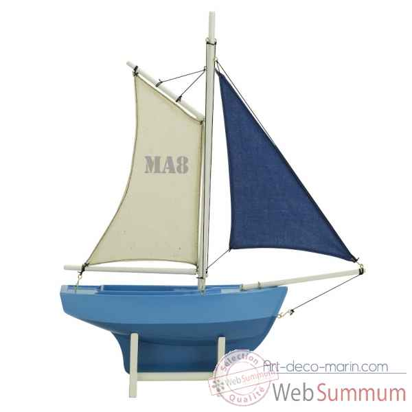 Voilier bleu, ma8 Decoration Marine AMF -AS188