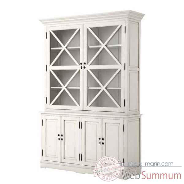 Eichholtz cabinet cross  vieille finition blanc -cab03405