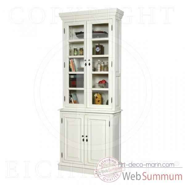 Eichholtz cabinet narrow/high  vieille finition blanc -cab03407