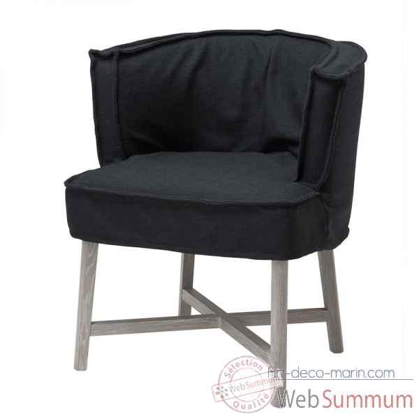 eichholtz fauteuil el mansour blanc cass et pieds noirs de d coration marine royale. Black Bedroom Furniture Sets. Home Design Ideas