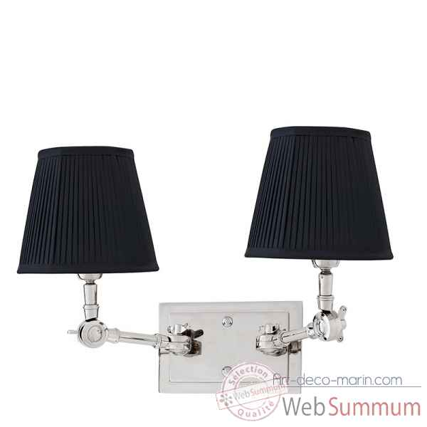 Lampe double wentworth nickel et noir Eichholtz -LIG07180
