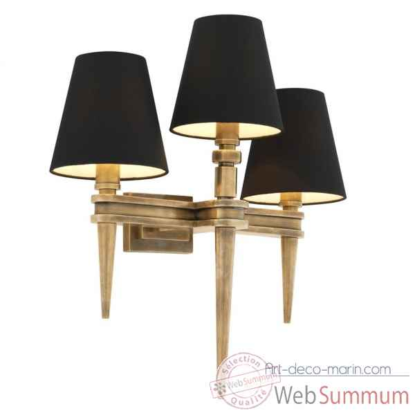 Lampe murale waterloo triple eichholtz -110990