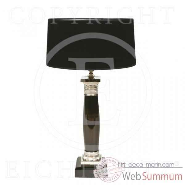 Eichholtz lampe table napoleon noir et nickel -lig01655