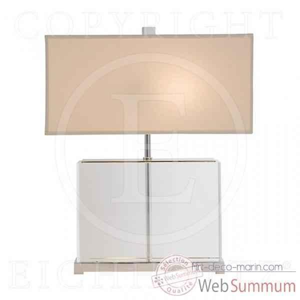Eichholtz et plexiglass lampe nickel lig05564 warwick 54R3LAj